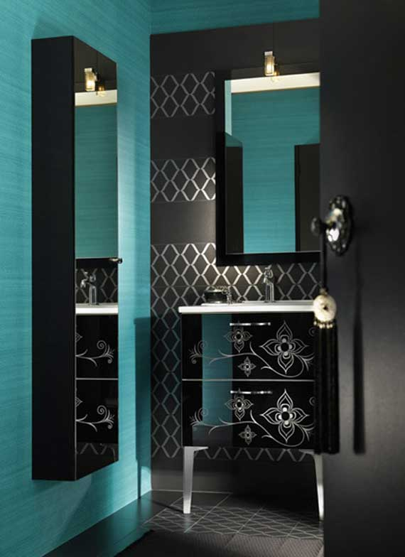 black white and teal bathroom mapa bagua la profesional casa feng shui 22786