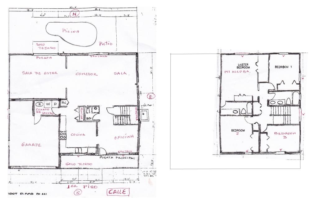 Colocar el Mapa Bagua del Feng Shui en una casa de dos pisos (1/2)